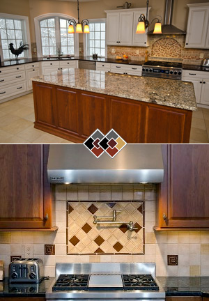 Countertop and Backsplash - Style, budget and durability to withstand day-to-day functions must all be considered when choosing counter top materials.